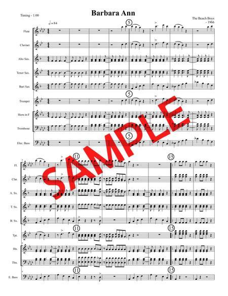 BARBARA ANN (Beach Boys, 1965) - for pep band, basketball band, jazz combo, small jazz ensemble