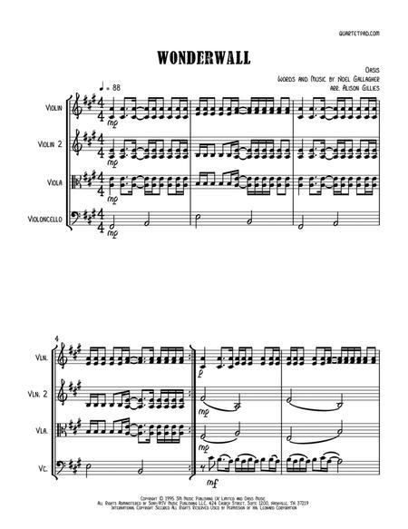 Wonderwall - String Trio (vln/vla/vc)