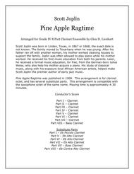 Pine Apple Ragtime(Clarinets)