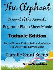 Elephant Carnival of the Animals Beginner Piano Sheet Music Tadpole Edition