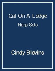 Cat On A Ledge, an original solo for harp from my book