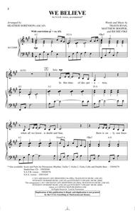 We Believe (arr. Heather Sorenson)