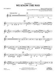 We Know the Way (from Moana) - Bb Clarinet 2