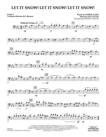 Let It Snow! Let It Snow! Let It Snow! - Pt.4 - Trombone/Bar. B.C./Bsn.