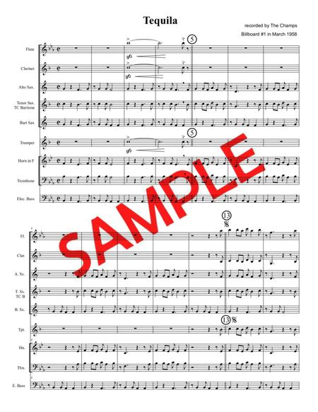 TEQUILA (The Champs, 1958) - for pep band, basketball band, jazz combo, small jazz ensemble