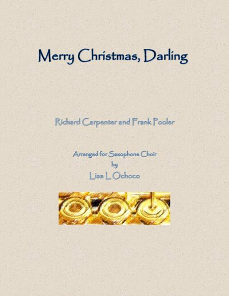 Merry Christmas, Darling for Saxophone Choir