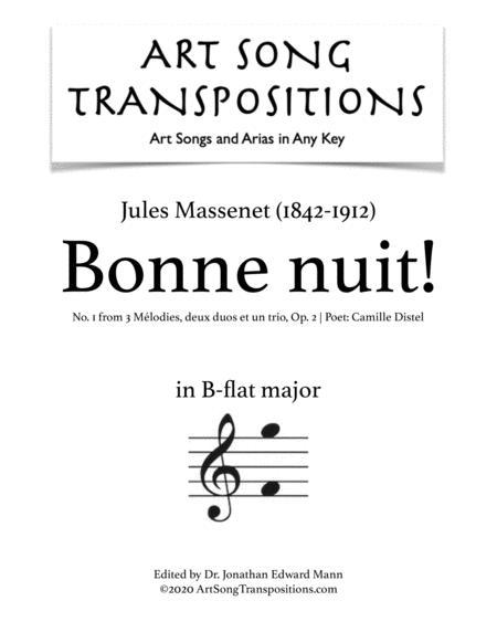 Bonne nuit (B-flat major)