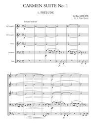 Carmen Suite No. 1 for Brass Quintet