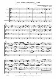 Canon in D major for String Quartet
