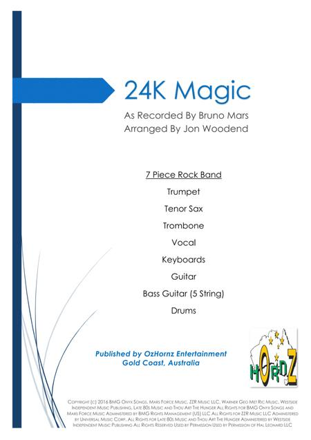 24K Magic - 7 Piece Horn Chart