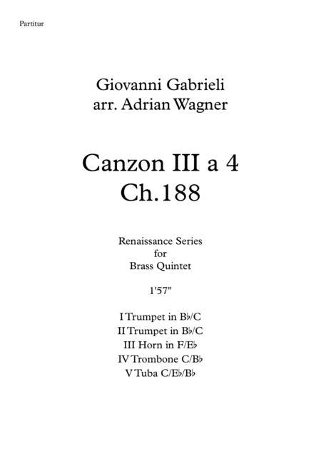 Canzon III a 4 Ch.188 (Giovanni Gabrieli) Brass Quintet arr. Adrian Wagner