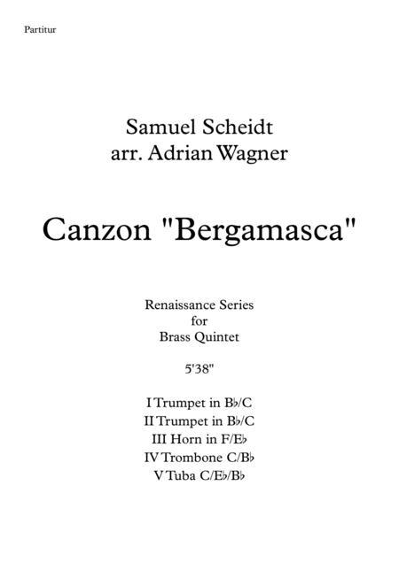 Canzon Bergamasca (Samuel Scheidt) Brass Quintet arr. Adrian Wagner