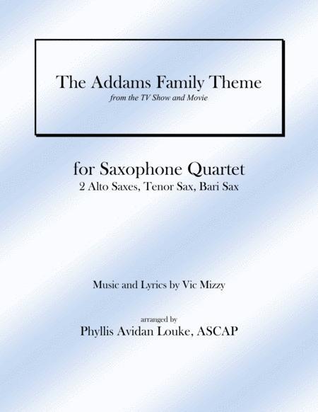 The Addams Family Theme for SAX QUARTET