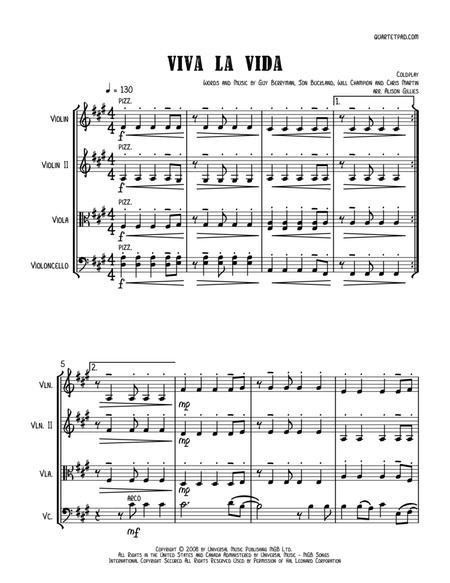 Viva La Vida - String Trio (vln/vla/vc)