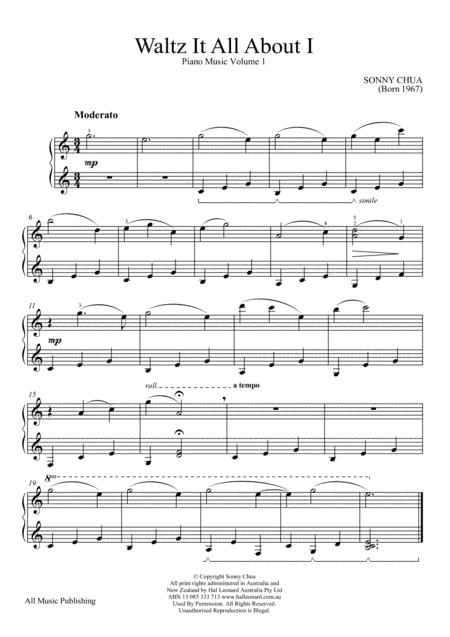 Waltz It All About I (From Piano Music Vol 1)