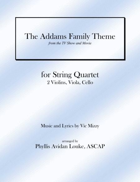 The Addams Family Theme for String Quartet