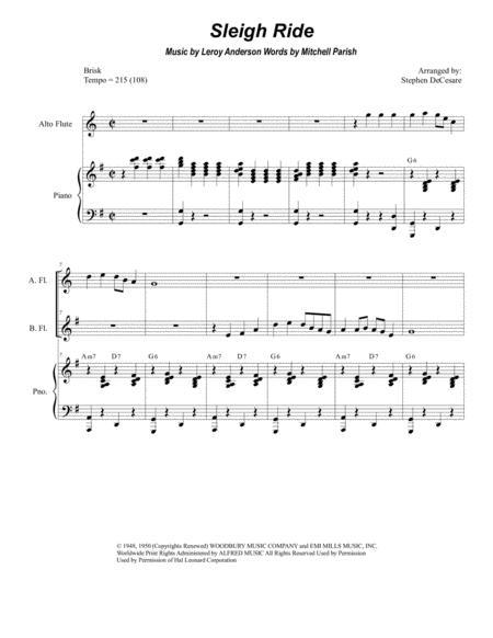 Sleigh Ride (for Flute Choir)