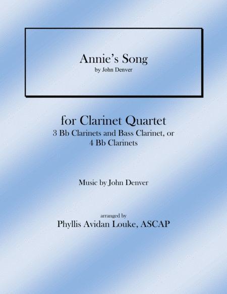Annie's Song for Clarinet Quartet