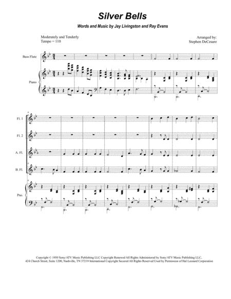 Silver Bells (for Flute Choir)