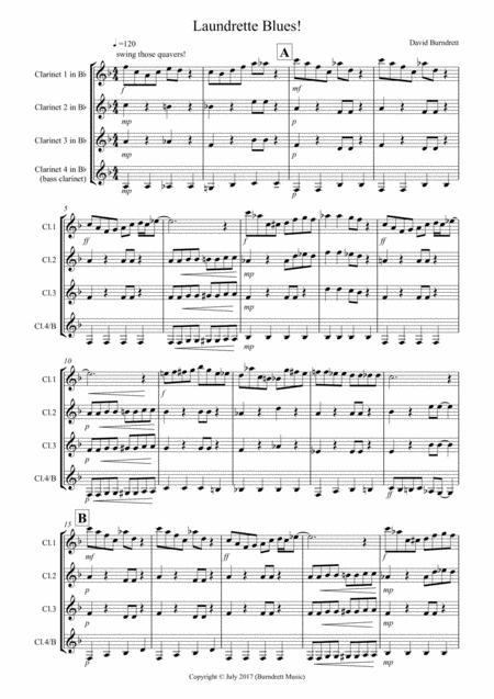 Laundrette Blues! for Clarinet Quartet