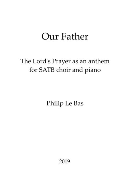 Our Father for SATB choir and piano