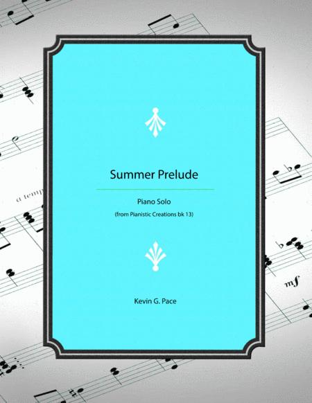 Summer Prelude - original piano solo