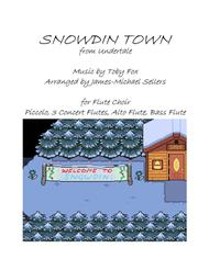 Snowdin Town (from Undertale) for Flute Choir