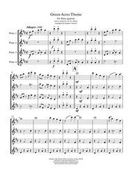 Green Acres Theme Flute Quartet
