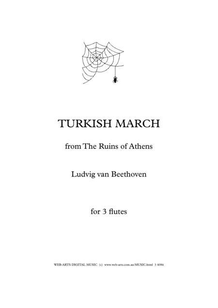 BEETHOVEN TURKISH MARCH Easy arrangement for 3 flutes