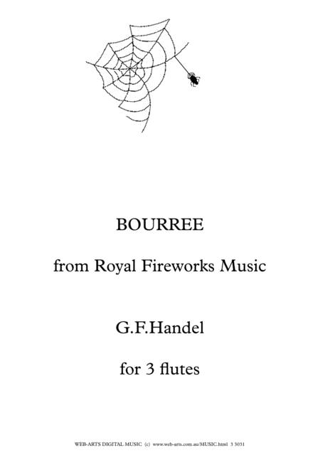 HANDEL BOURREE from ROYAL FIREWORKS MUSIC Easy arrangement for 3 flutes