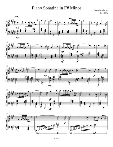 Piano Sonatina in F# Minor