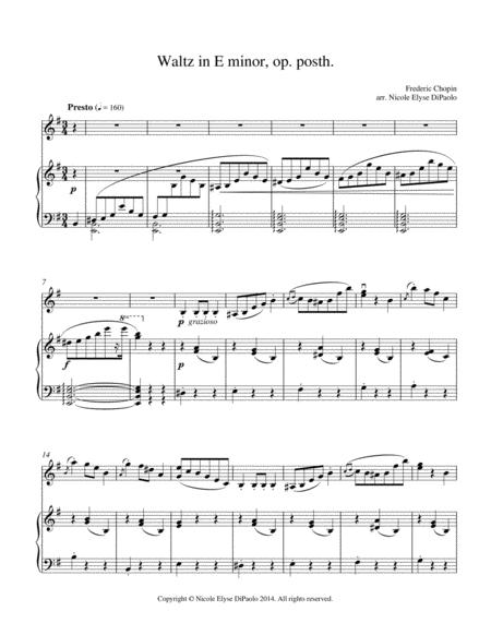 Chopin - Waltz in E minor op. posth. arr. for Piano and Violin, B.56 KK IVa/15