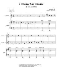 I Wonder As I Wander (Duet for C-Instruments)