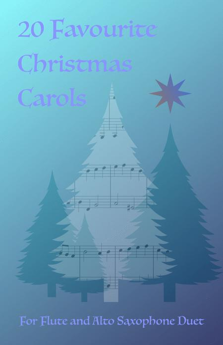 20 Favourite Christmas Carols for Flute and Alto Saxophone Duet