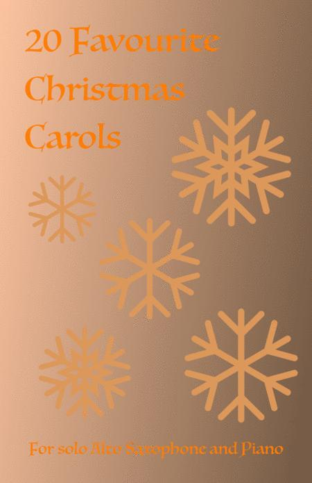 20 Favourite Christmas Carols for solo Alto Saxophone and Piano