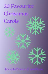 20 Favourite Christmas Carols for solo French Horn in F and Piano