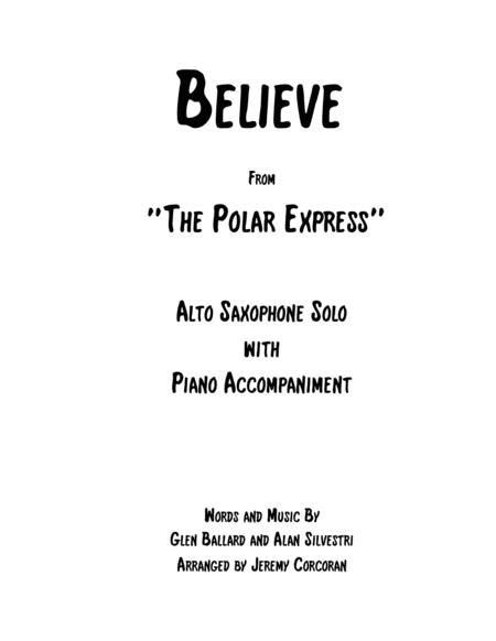 Believe for Alto Saxophone and Piano