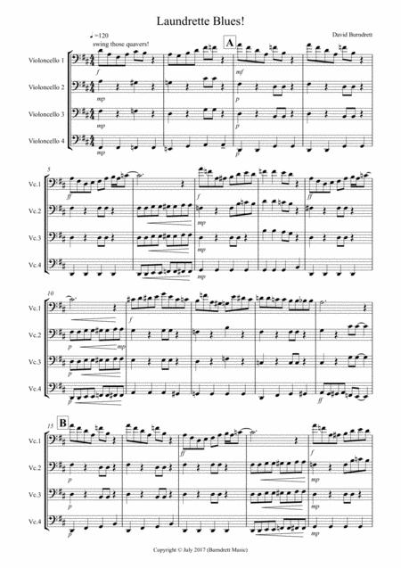 Laundrette Blues! for Cello Quartet