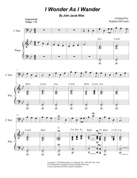 I Wonder As I Wander (for Solo Bass C-Instrument)