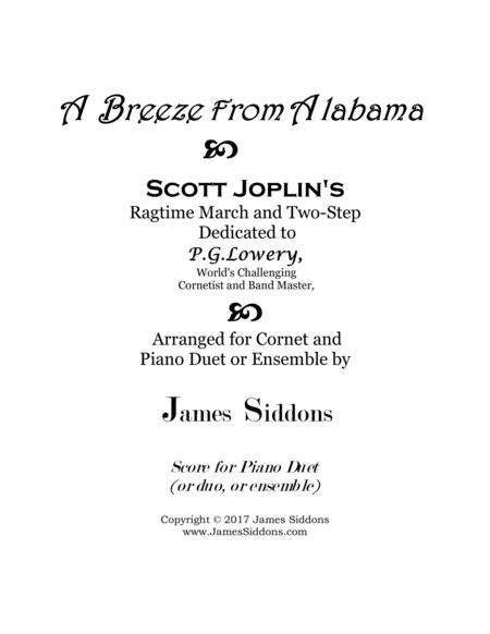 A Breeze from Alabama Piano Duet or Ensemble Part