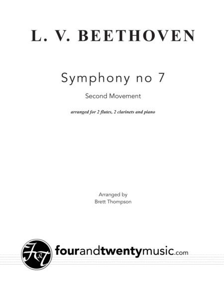 Download Allegretto, Second Movement, From Symphony No 7