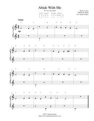 Abide With Me - for very easy piano