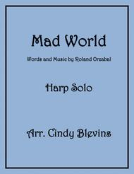 Mad World, arranged for Lever or Pedal Harp
