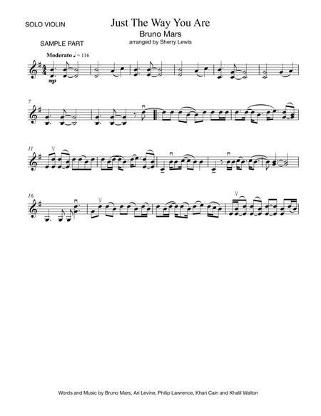 Just The Way You Are VIOLIN SOLO (for solo violin)