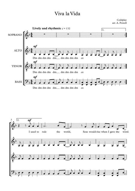 Viva La Vida - SATB a cappella