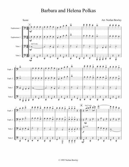 Barbara and Helena Polkas - Tuba/Euphonium Quartet