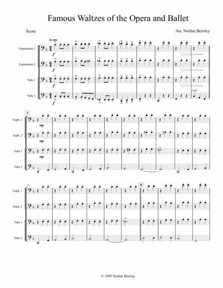 Famous Waltzes of the Opera and Ballet - Tuba/Euphonium Quartet