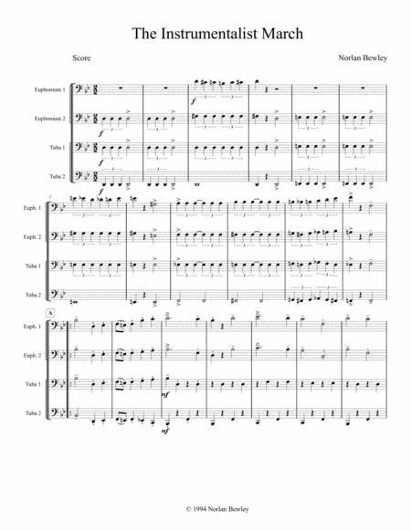 Instrumentalist March - Tuba/Euphonium Quartet