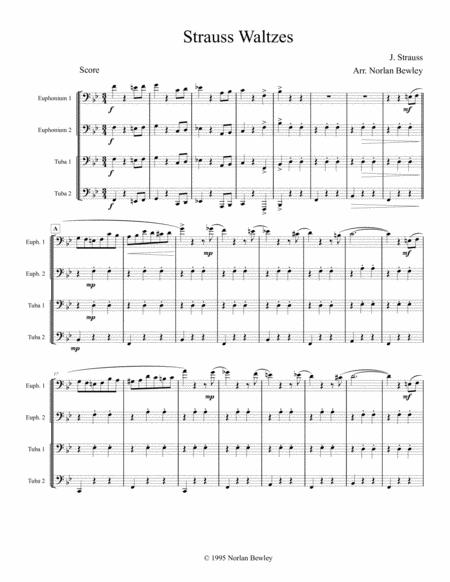 Strauss Waltzes Medley - Tuba/Euphonium Quartet
