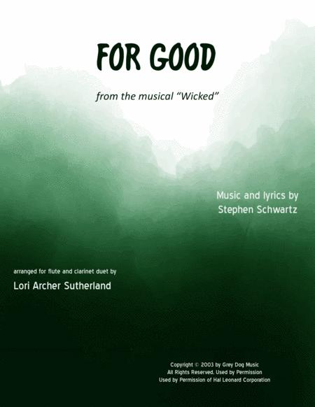 For Good (flute/clarinet duet)